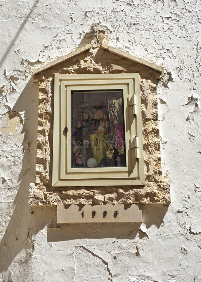Aedicule votif Turi La Puglia l'Italie photographie stock libre de droits