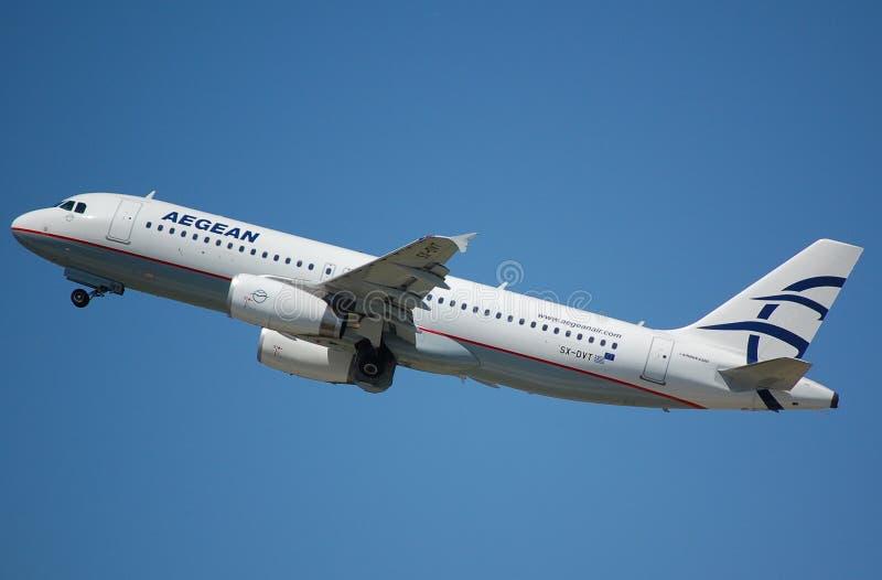 Aegan Airbus 320 imagens de stock royalty free