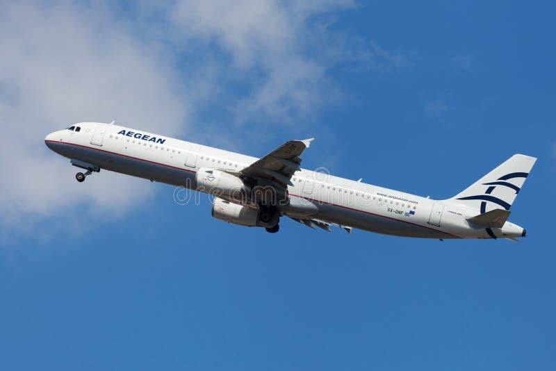 Aegean Airlines Airbus A321 immagine stock