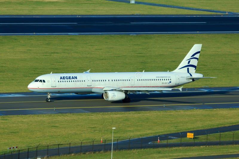 Aegean Airlines Airbus A321 imagem de stock