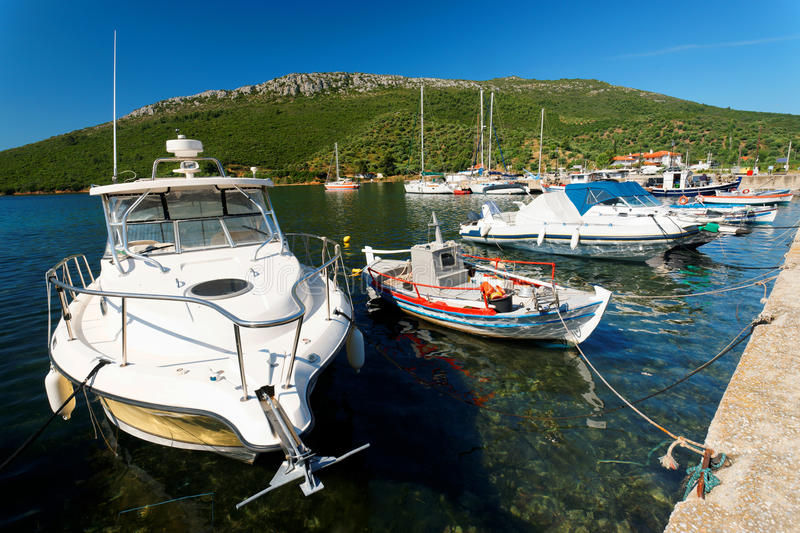 Aegean Harbour. Harbout at the Aegean Sea, Greece royalty free stock images