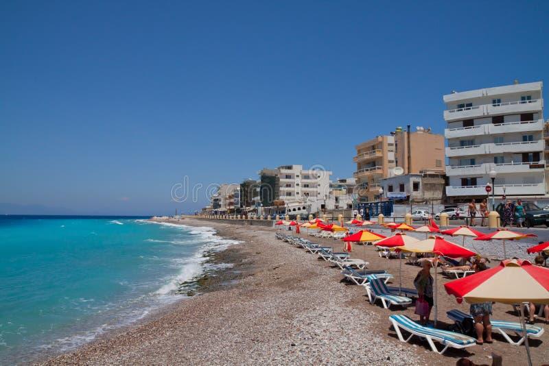 aegean hav rhodes Grekland royaltyfria foton