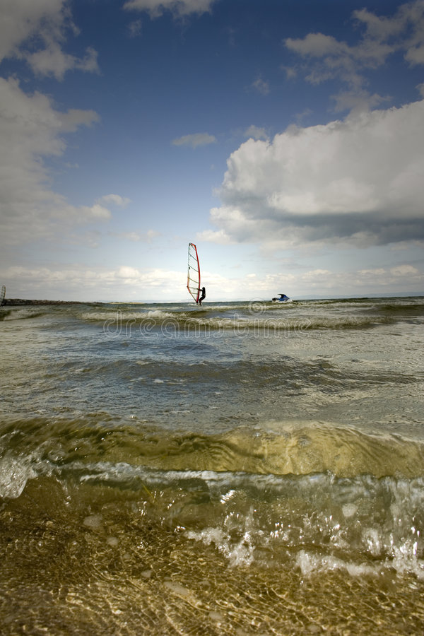 aegean oceanu windsurfer zdjęcia royalty free