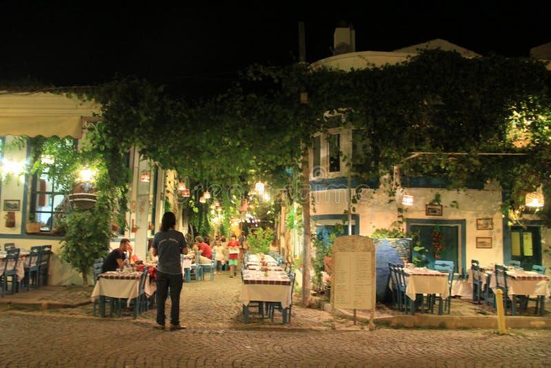 Aegean område - den Tenedos ön, konst, på shoppar, hus arkivbild