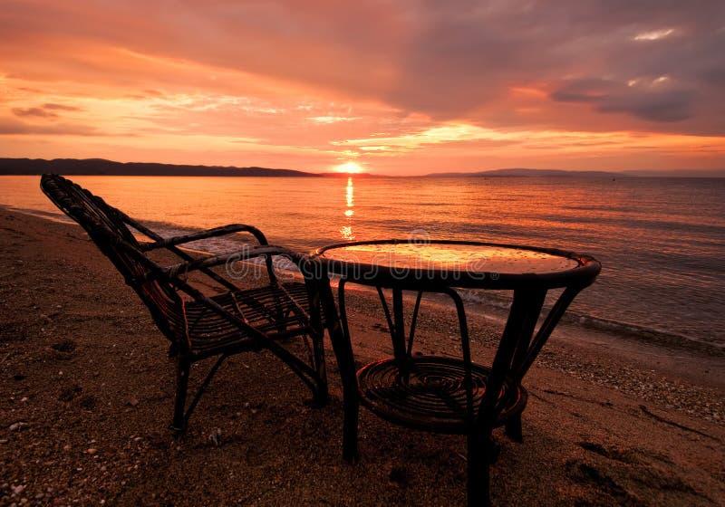 Aegean Sea At Sunrise Stock Photography