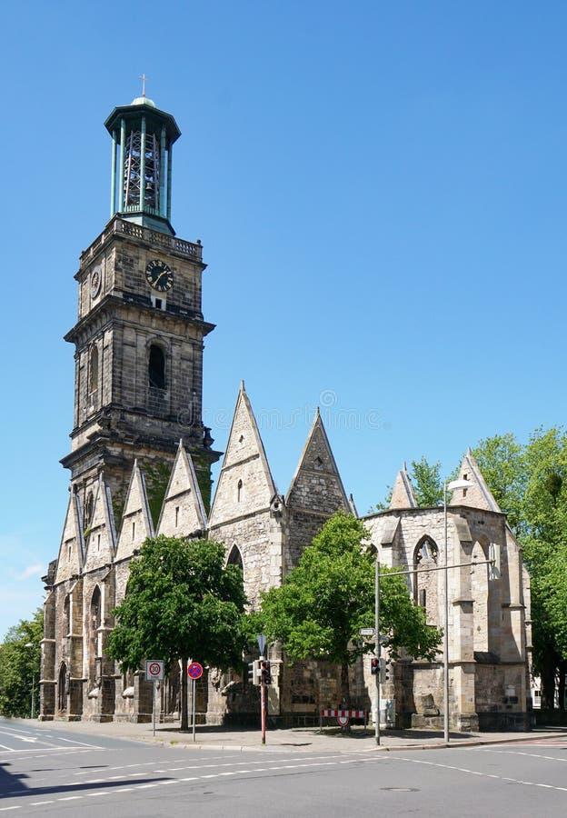 Aegidienkirche no memorial de guerra sem telhado da igreja de Hanover Alemanha fotografia de stock