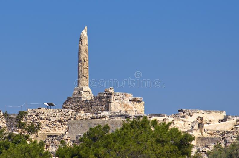 Aegina antique en Grèce. Le Colona photos libres de droits