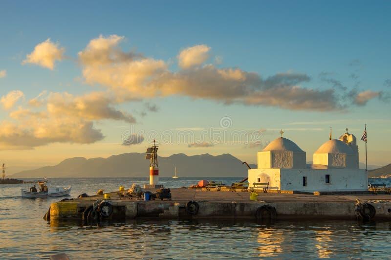 Aegina island in greece royalty free stock photography