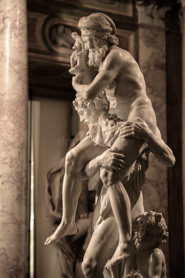 Aeneas, Anchises e Ascanius por Gian Lorenzo Bernini fotografia de stock royalty free