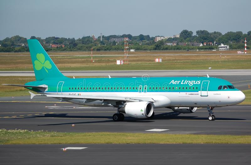 Aer Lingus Airbus 320 stock images