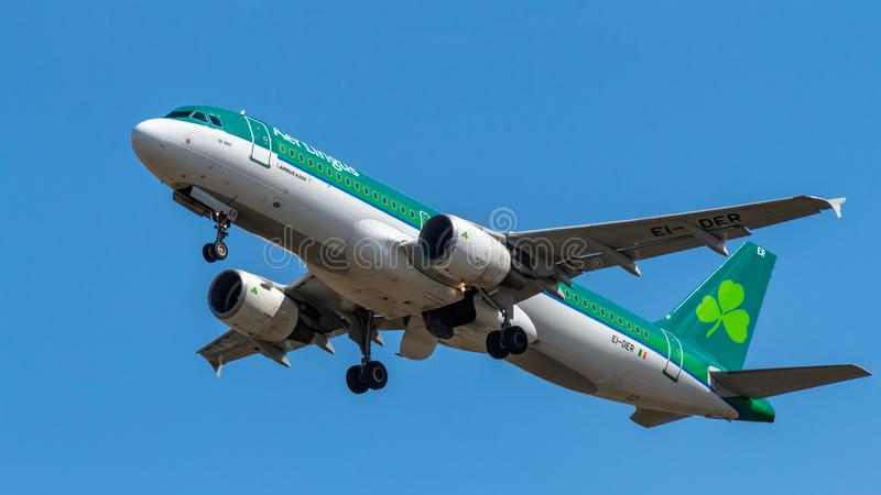 Aer Lingus, Airbus A320 stock image