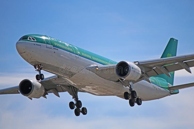 An Aer Lingus Airbus A330-200 Close-Up royalty free stock images