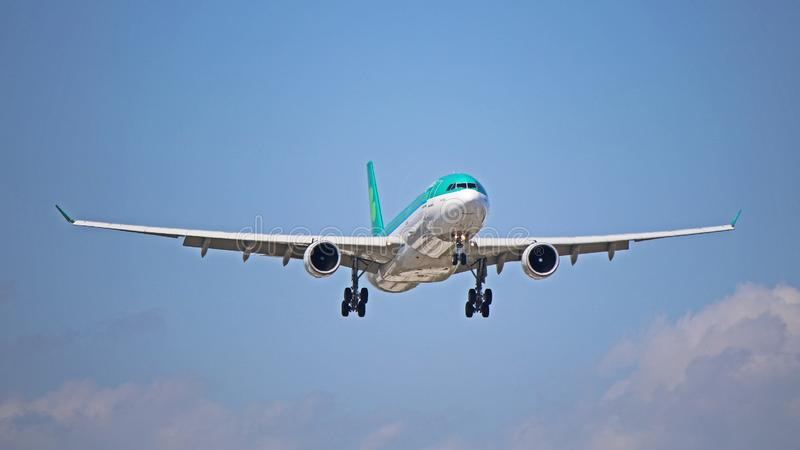 Aer Lingus Airbus A330-300 On Final Approach stock photography