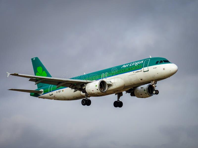 Aer Lingus Airbus A320 landing stock image