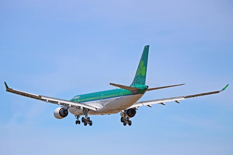 An Aer Lingus Airbus A330-200 Ready To Land stock photos
