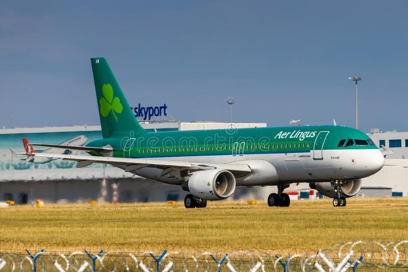 A320 Aer Lingus images stock