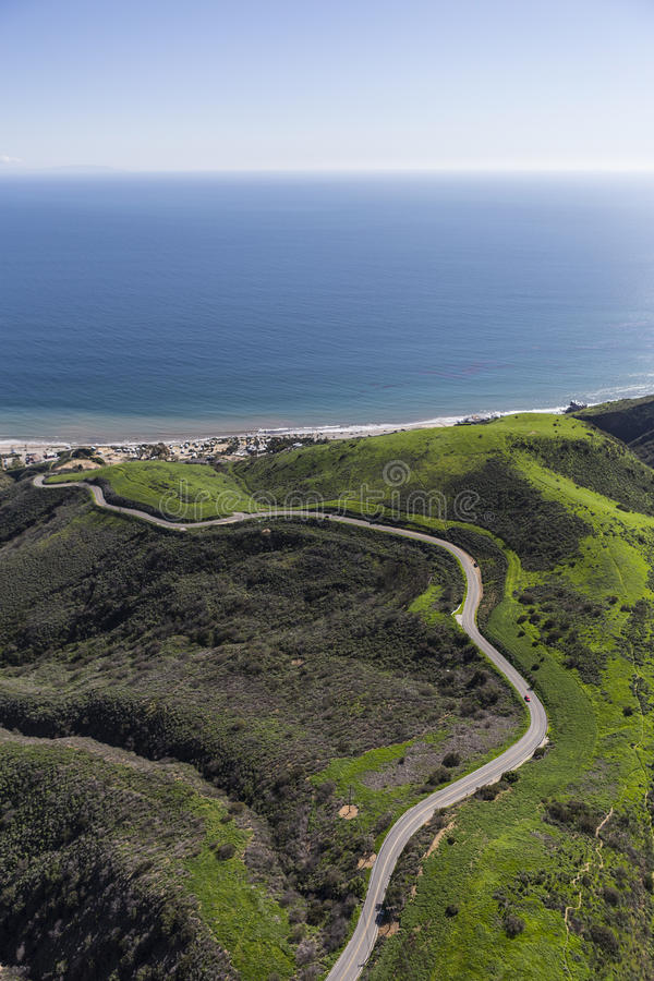 Free Aerail Corral Canyon Road Malibu California Stock Photography - 87605462