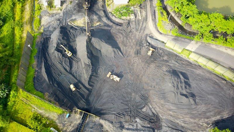 Aeral Bornéo Indonésie de charbonnage photo stock
