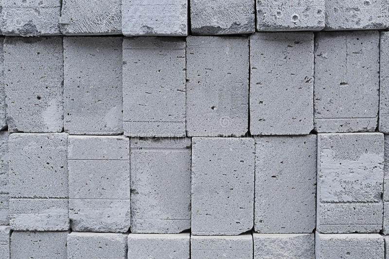 AERATED CONCRET BLOCKS. TEXTURES OF STACKED AERATED CONCRET BLOCKS AS BACKGROUNDS stock images
