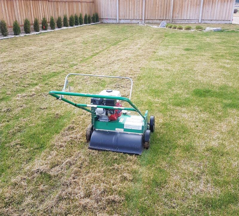 Aerating Lawn and Yard royalty free stock photo