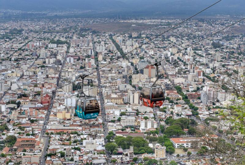 Aereal Salta Argentina city view cableway transport travel destinations vacations royalty free stock photos