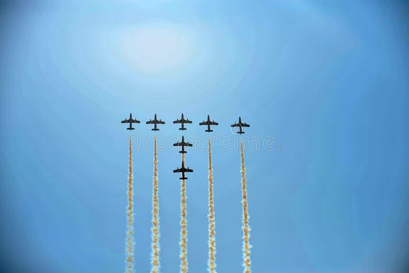 Aerei acrobatici immagini stock libere da diritti