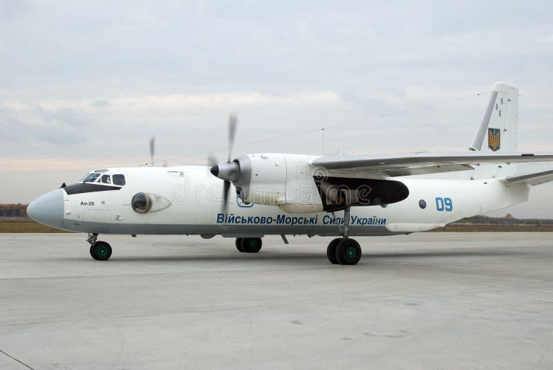 Aerei Antonov An-26 immagine stock libera da diritti