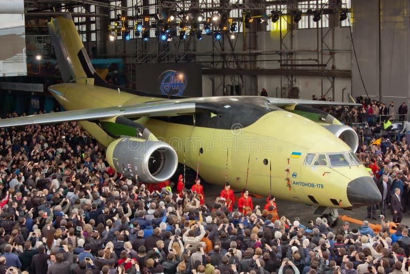 Aerei Antonov An-178 fotografia stock libera da diritti