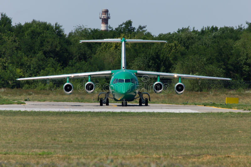 Aerei BA-146 a Rostov-On-Don immagine stock