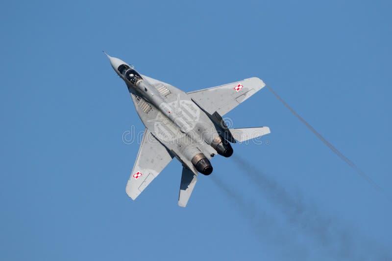 Aerei da caccia del fulcro MiG-29 fotografie stock