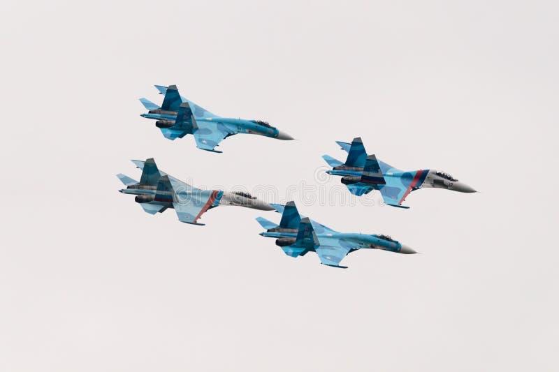 Aerei da caccia Su-27 immagini stock