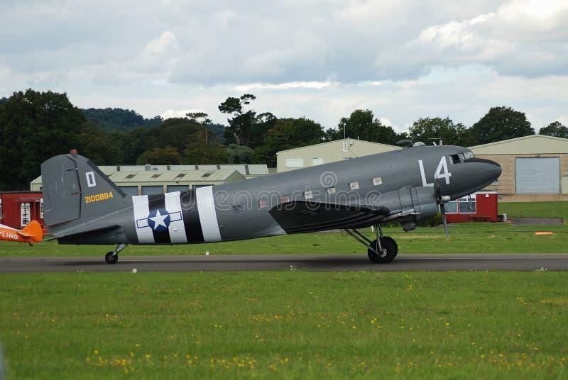 Aerei del Dakota C47A fotografie stock libere da diritti
