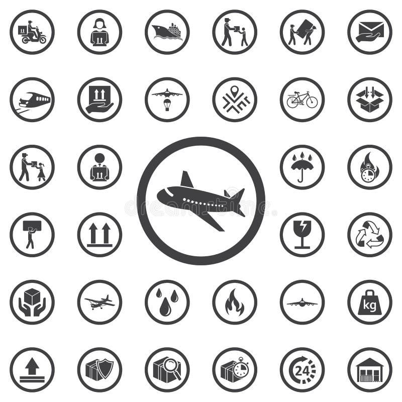 Aerei dell'icona di vettore illustrazione di stock