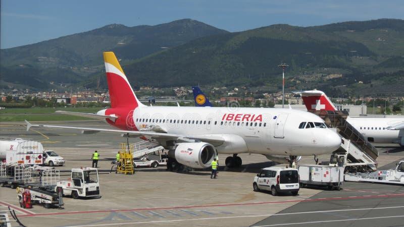 Aerei delle vie aeree di Iberia fotografie stock libere da diritti