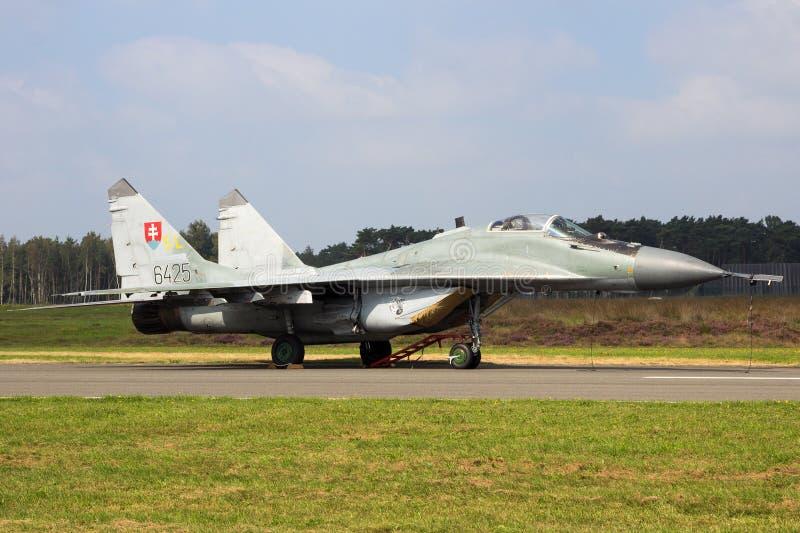 Aerei di aereo da caccia del fulcro della Slovacchia MiG-29 immagini stock