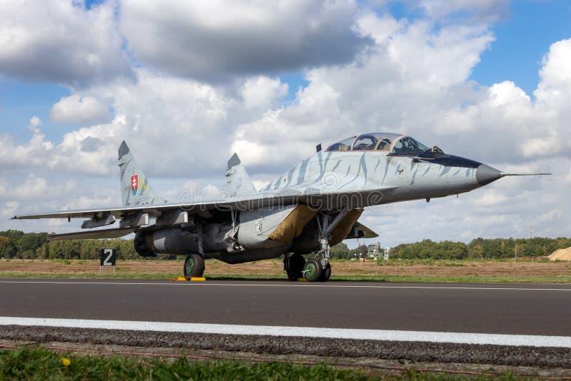 Aerei di aereo da caccia del fulcro MiG-29 fotografia stock libera da diritti