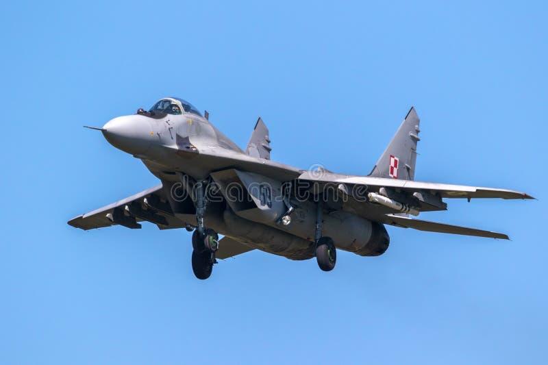 Aerei di aereo da caccia del fulcro MiG-29 fotografie stock libere da diritti