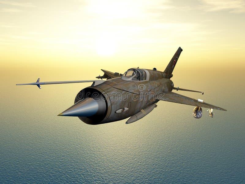 Un Aereo Da Caccia Russo : Aerei di aereo da caccia sovietici illustrazione stock
