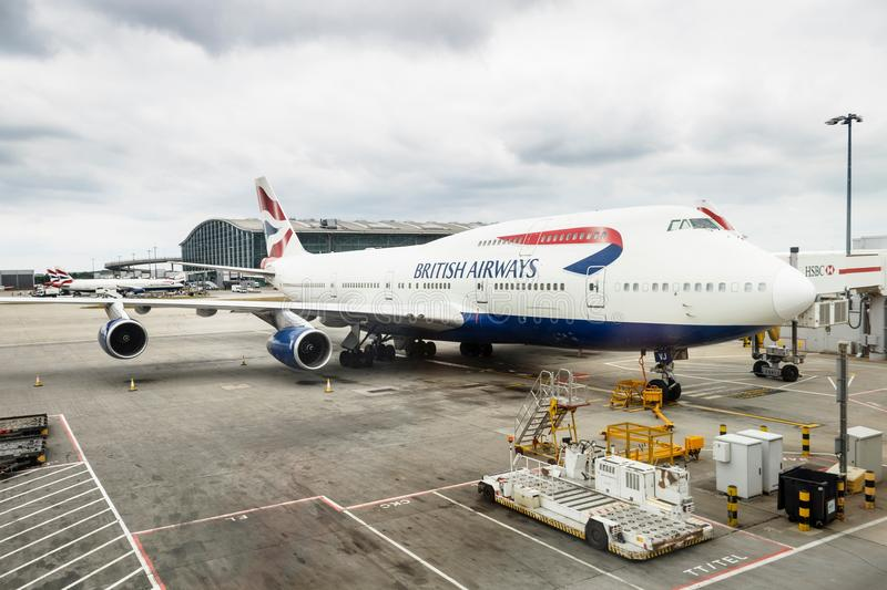 Aerei di British Airways fotografia stock