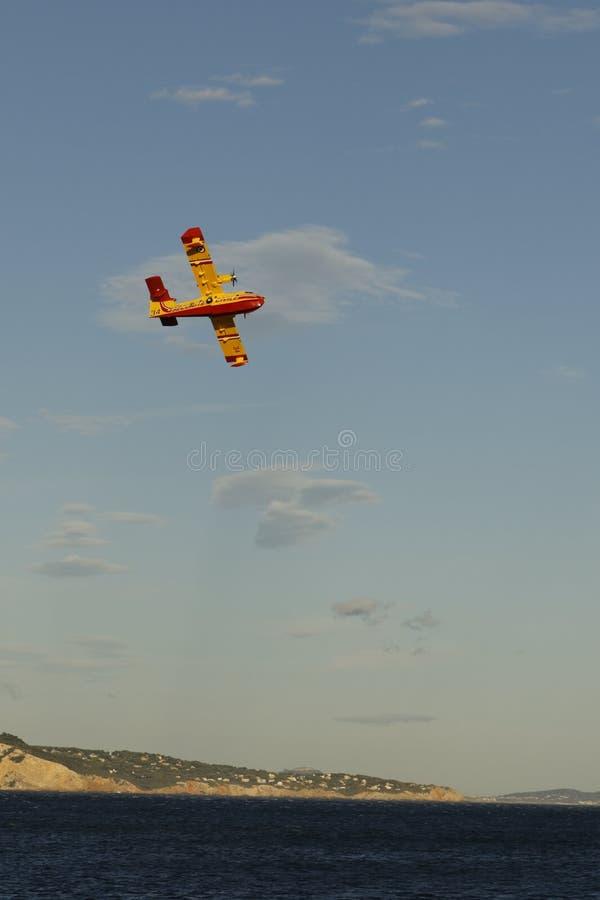Aerei di Canadair in La Ciotat fotografia stock libera da diritti