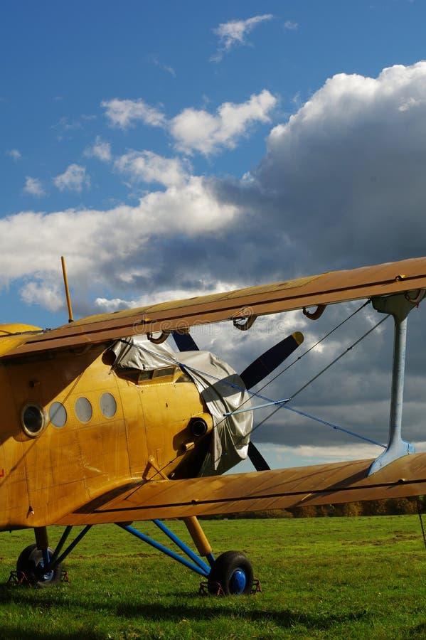 Aerei di sport 4 del biplano fotografia stock libera da diritti