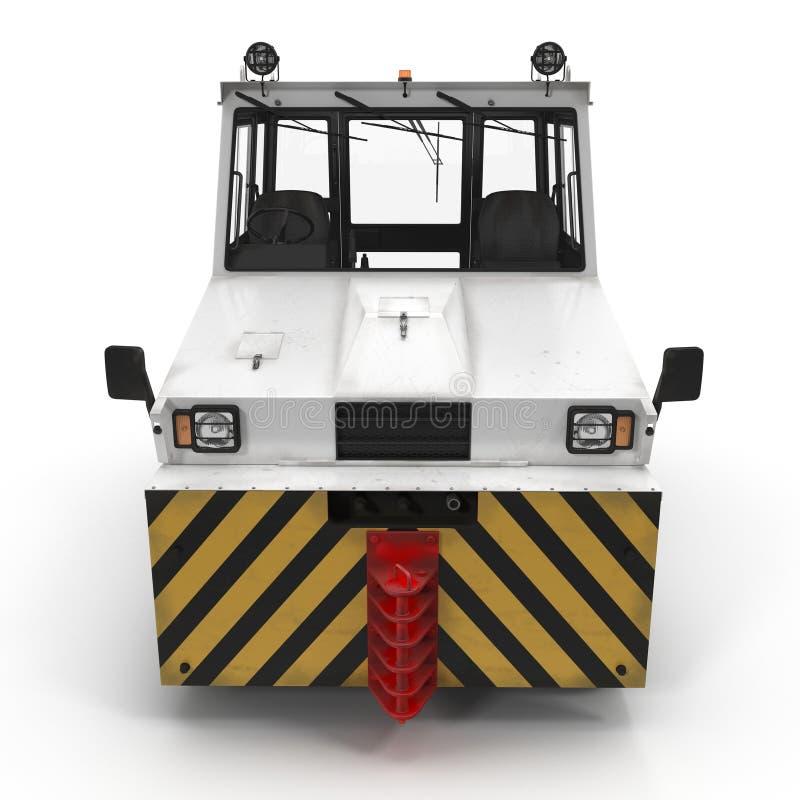 Aerei diesel Tow Tractor su bianco illustrazione 3D royalty illustrazione gratis