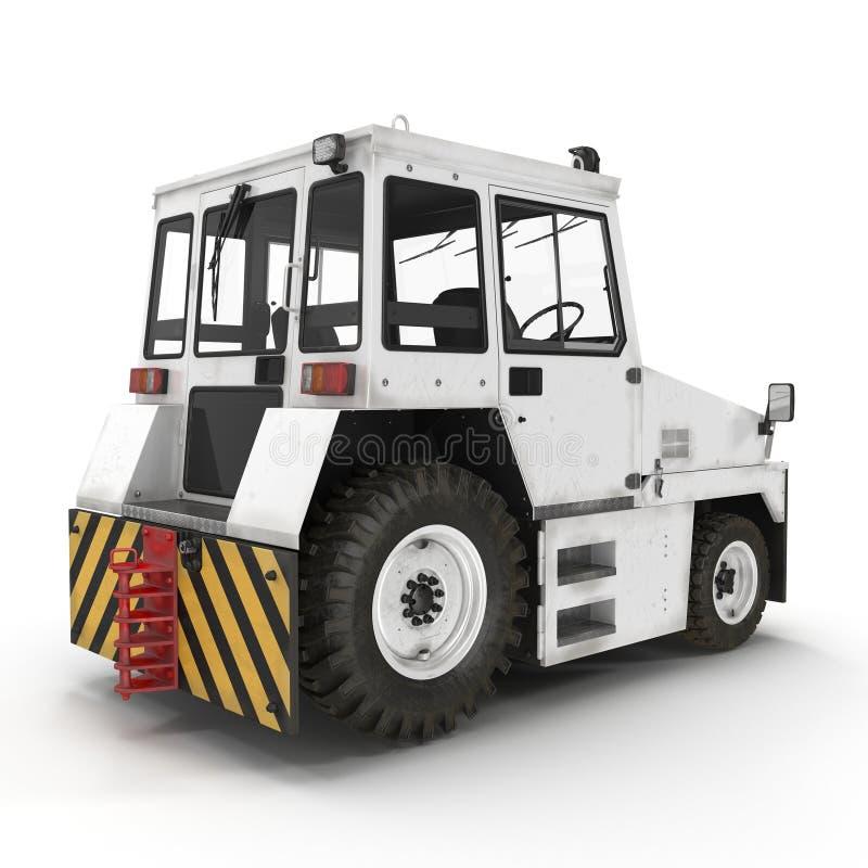 Aerei diesel Tow Tractor su bianco illustrazione 3D illustrazione vettoriale