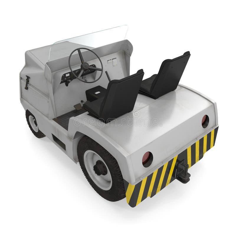 Aerei diesel Tow Tractor su bianco illustrazione 3d isolata su fondo bianco illustrazione di stock