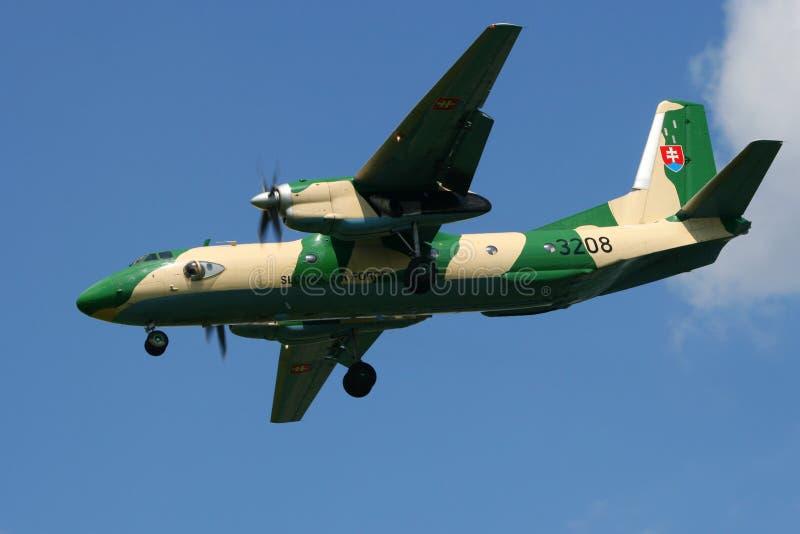 Aerei slovacchi del carico di Antonov An-26 dell'aeronautica fotografie stock