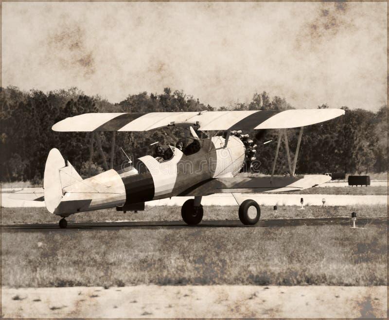 Aereo antico del Boeing Stearman immagine stock