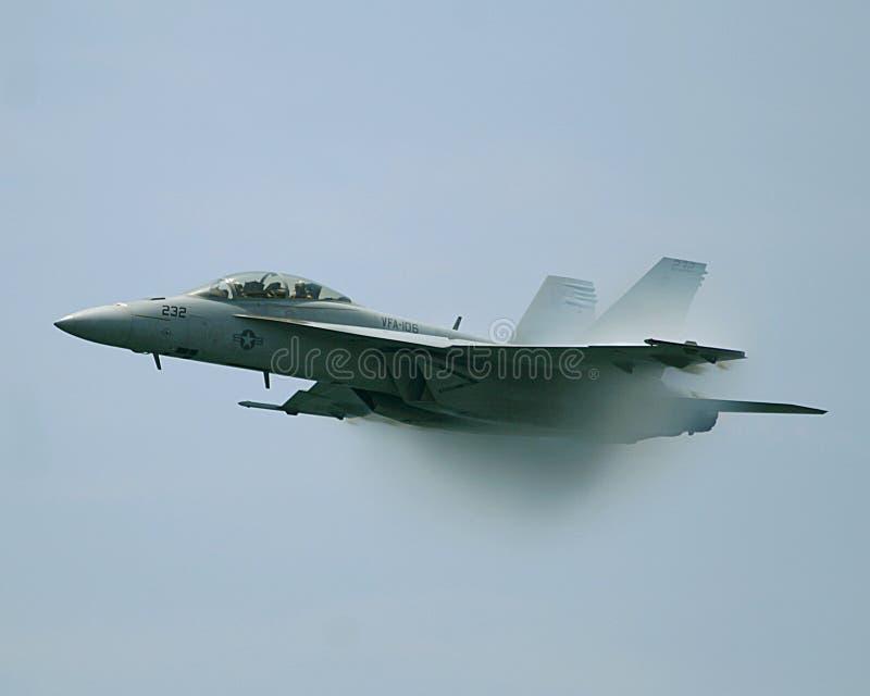Aereo da caccia del calabrone F/A-18 immagini stock