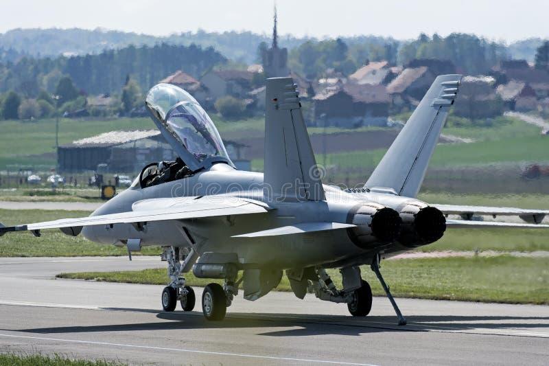 Aereo da caccia eccellente del calabrone F/A-18 immagini stock