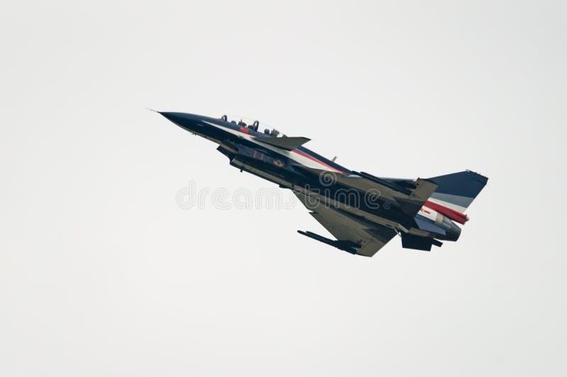 Aereo da caccia J-10 dal gruppo acrobatici di Bai fotografia stock