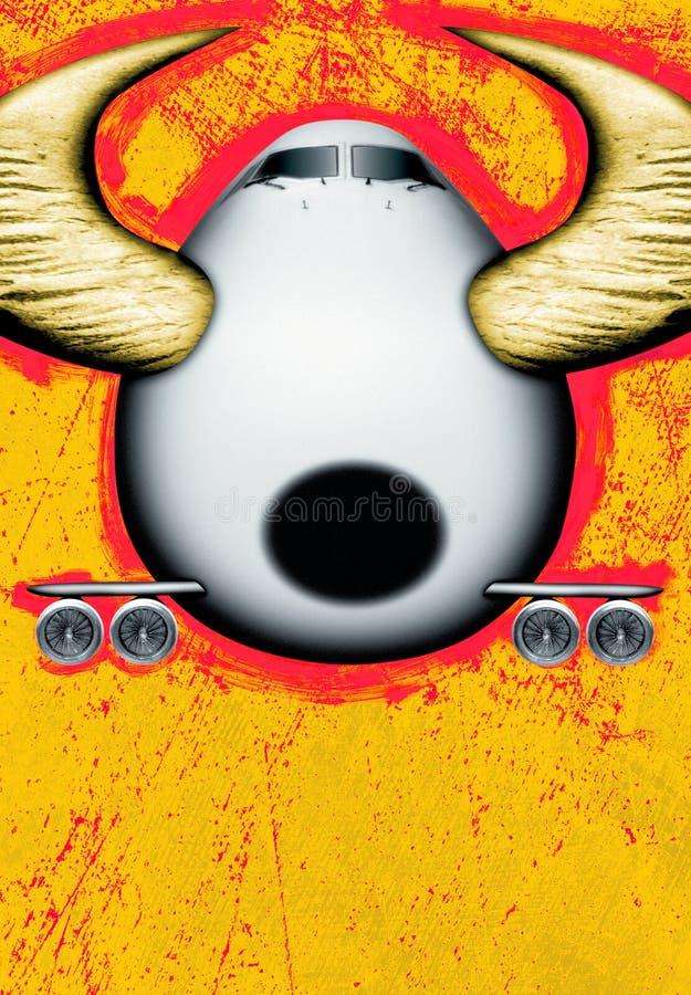 Aereo del Bull illustrazione vettoriale